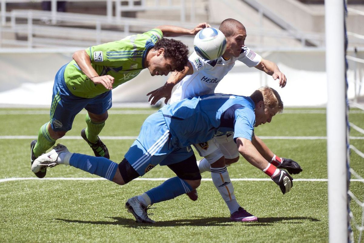 """Sammy Ochoa is earning his way back into MLS minutes. Photo courtesty of <a href=""""http://www.SoundersFC.com"""" target=""""new"""">SoundersFC.com</a> from the match against the Whitecaps earlier in the month."""