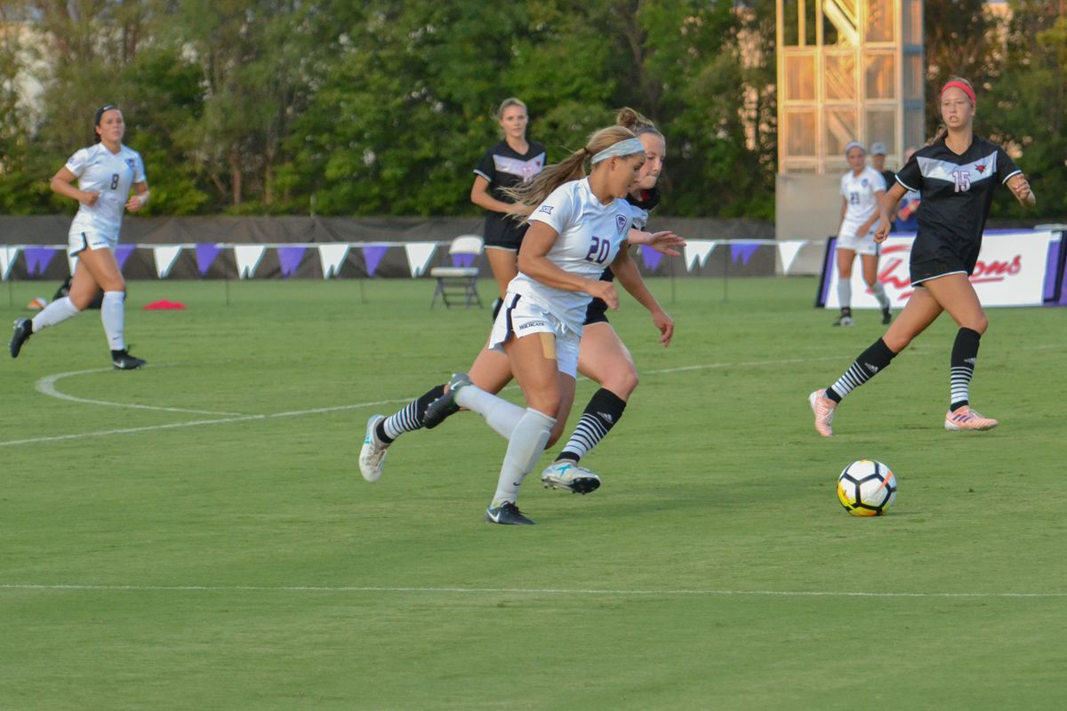 Brookelyn Entz (left) ended her Wildcat career with a bang, although she didn't score Friday