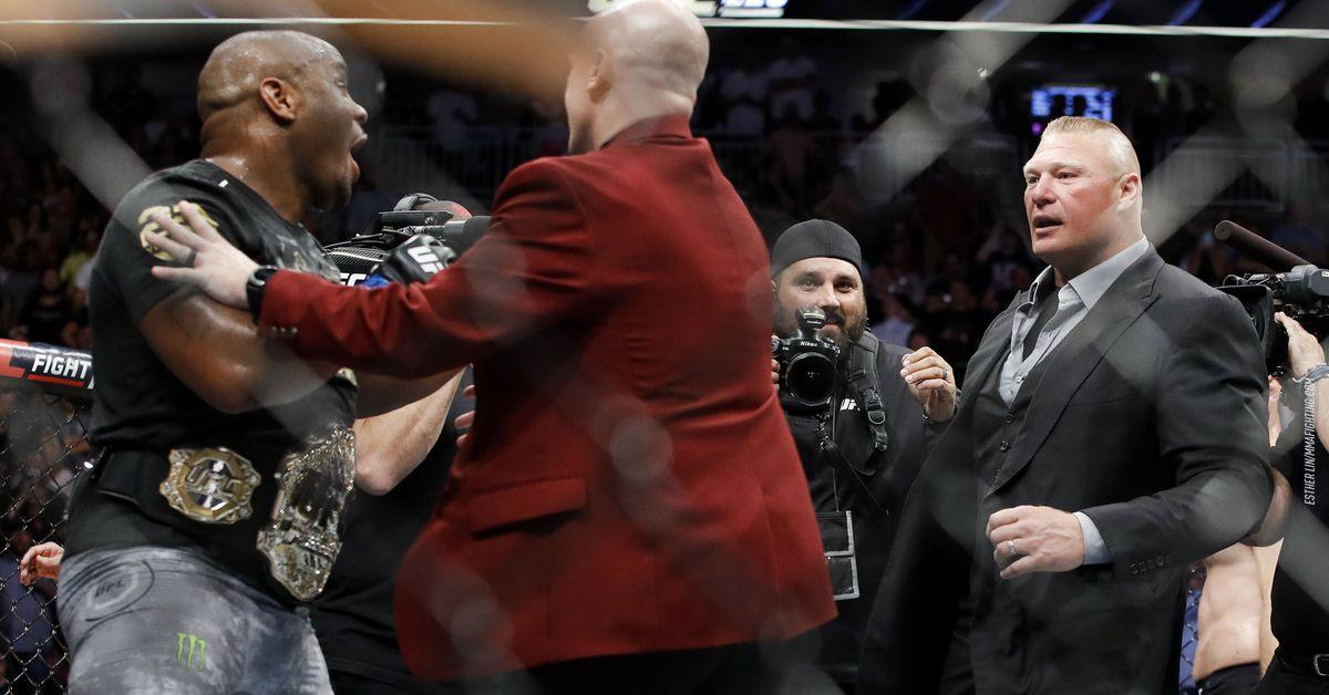 Daniel Cormier taunts Brock Lesnar after Summerslam loss