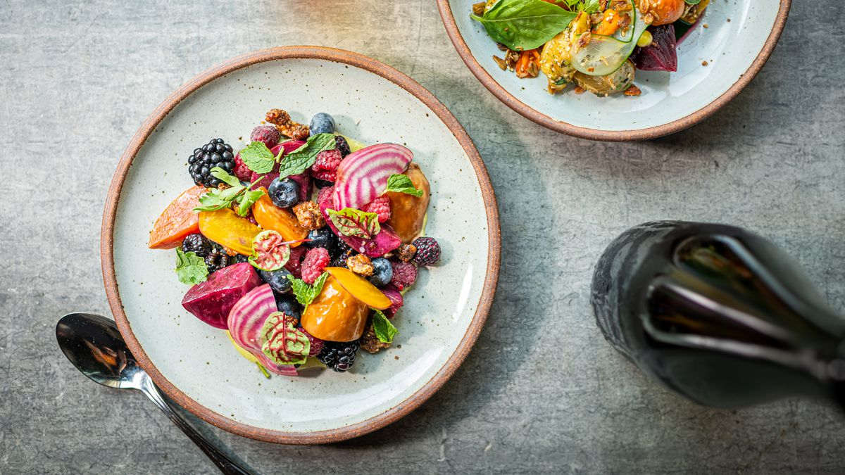 A beets and berries salad from No Goodbyes