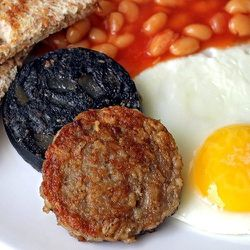 """<a href=""""http://www.jollyposh.com/shop/p-6-white-pudding.aspx"""">White Pudding,</a> $7.99, is a meat dish that's popular in Ireland."""