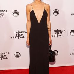 Zoe Kravitz in Alexander Wang at the premiere of 'Vincent 'n' Roxxy' at the Tribeca Film Festival.