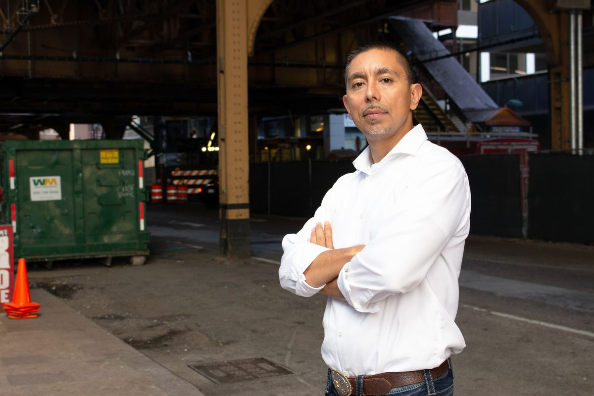"""Eddie Bocanegra, senior director of READI Chicago, a community organization that got a $2 million grant from JPMorgan Chase: """"Too often, the population we focus on is overlooked and dismissed because of mistakes of the past."""""""