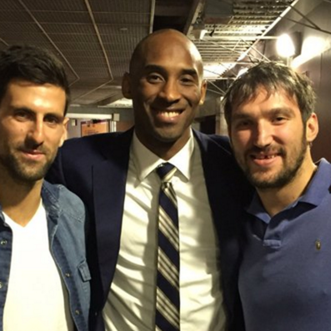 Kobe Bryant Novak Djokovic And Alex Ovechkin Fit As Much Greatness As They Could Into One Photo Sbnation Com