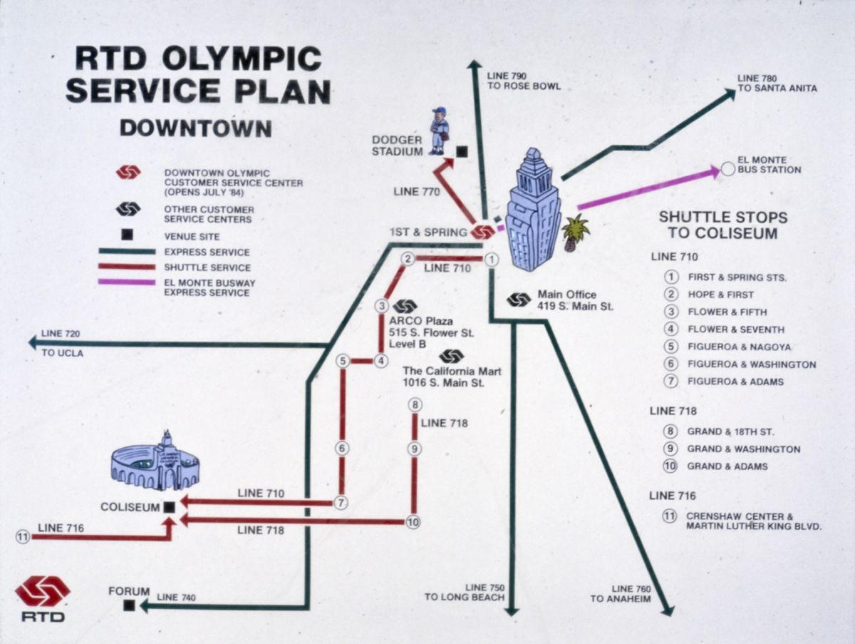Olympics Solved Las Traffic Problemcan The 2028 Games Do It Electrical Circuits Archives Problems Like This One Of Downtown Were Mailed Out With Tickets So Spectators Could Plan Ahead Metro Transportation Research Library Archive