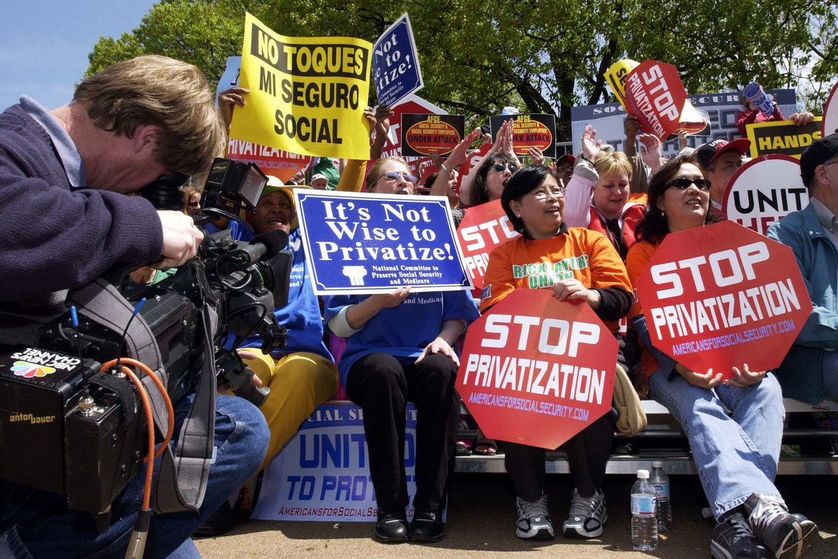 2005 rally against Social Security privatization