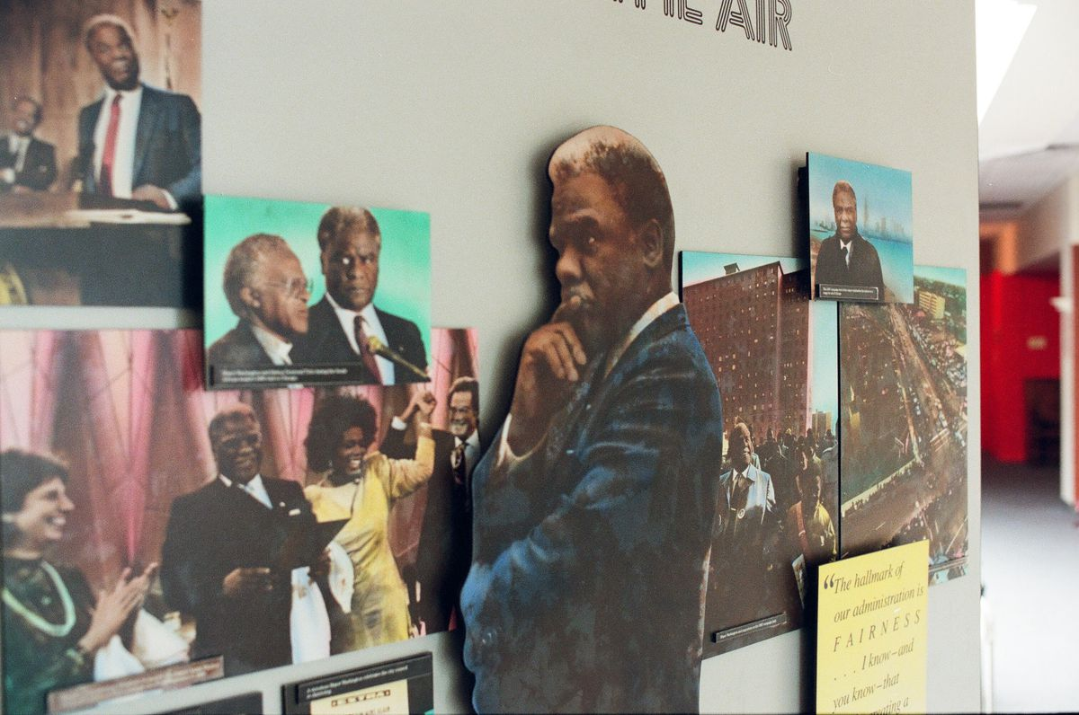 Part of the Harold Washington exhibit at the DuSable Museum. | Sun-Times archives