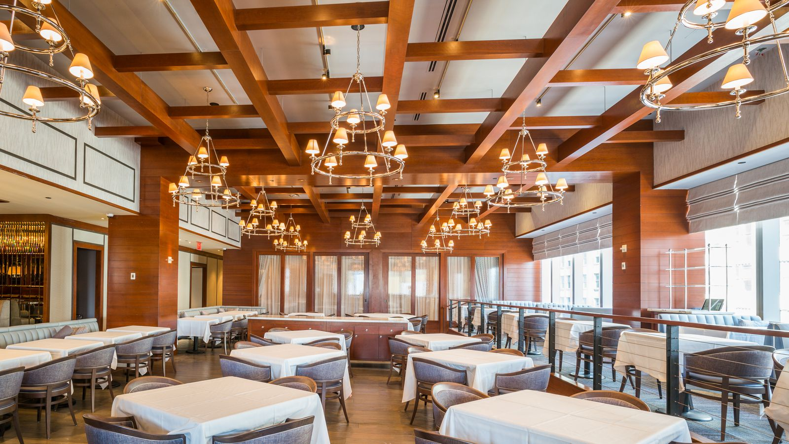Take a tour of michael lomonaco 39 s freshly revamped porter house bar and grill eater ny - Restaurant bar and grill ...