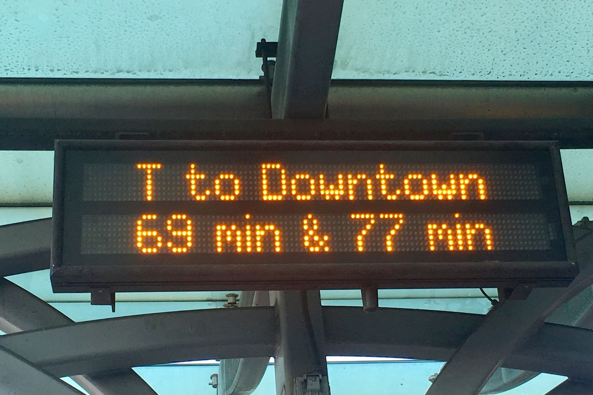 Messed up Muni arrival time shows them coming well over an hour. Yikes.