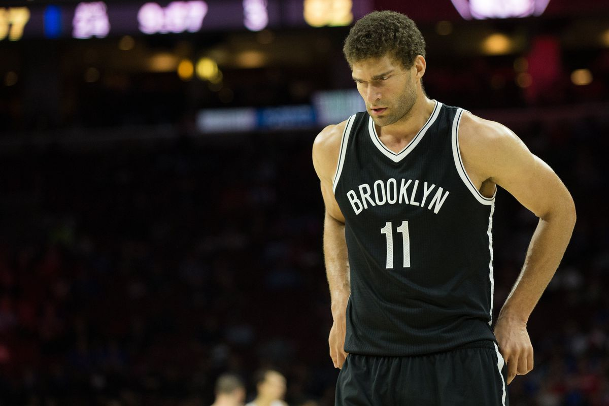 best service dd6ea 3635f Nets lost, but Brook Lopez became their all-time leading ...