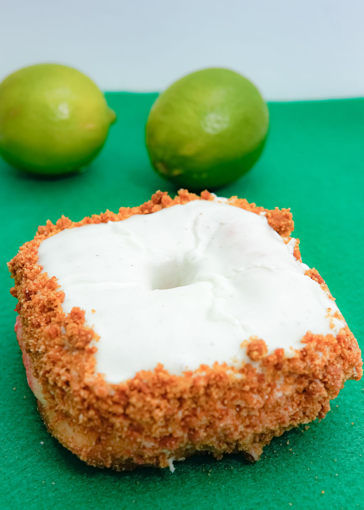 A key lime doughnut from Astro