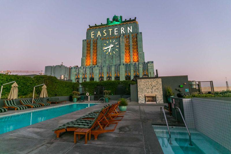 Eastern Columbia pool deck
