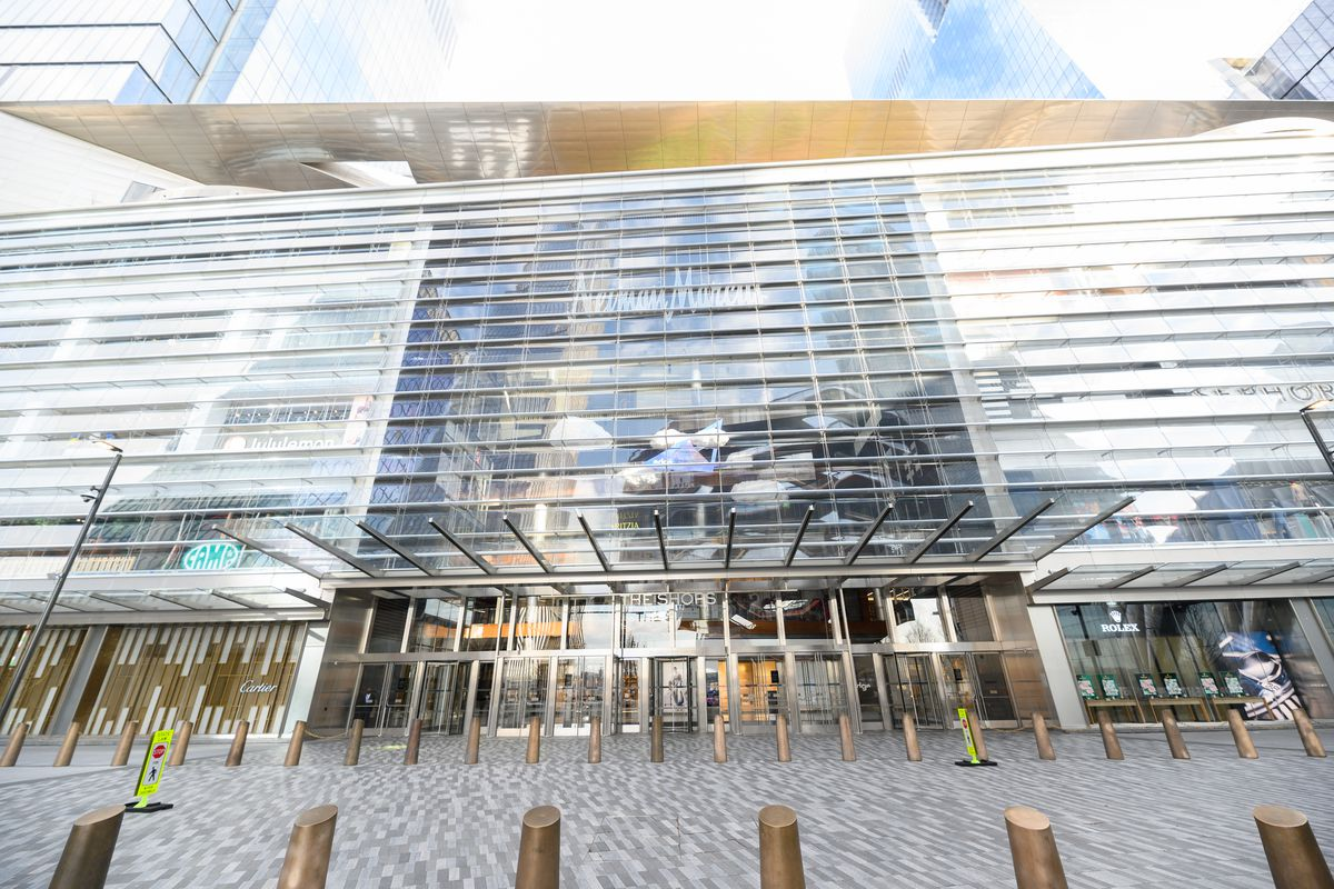 A view of 'The Shops' mall in Hudson Yards hours ahead of implementation of 'New York State on PAUSE' executive order as the coronavirus continues to spread across the United States on March 22, 2020 in New York City.