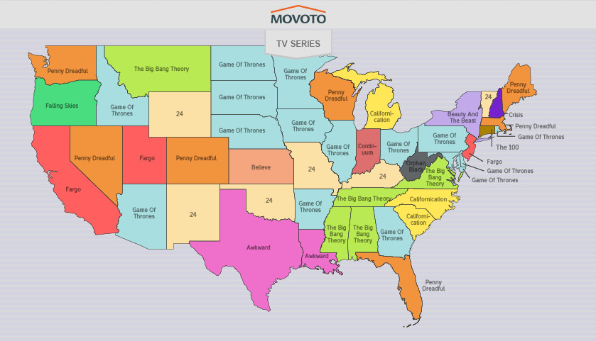 map of most torrented tv shows