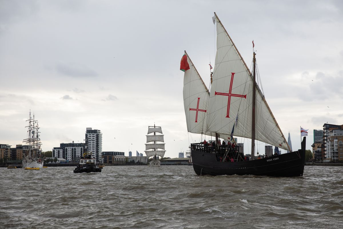 The Tall Ships Leave Greenwich To Race To Sines In Portugal