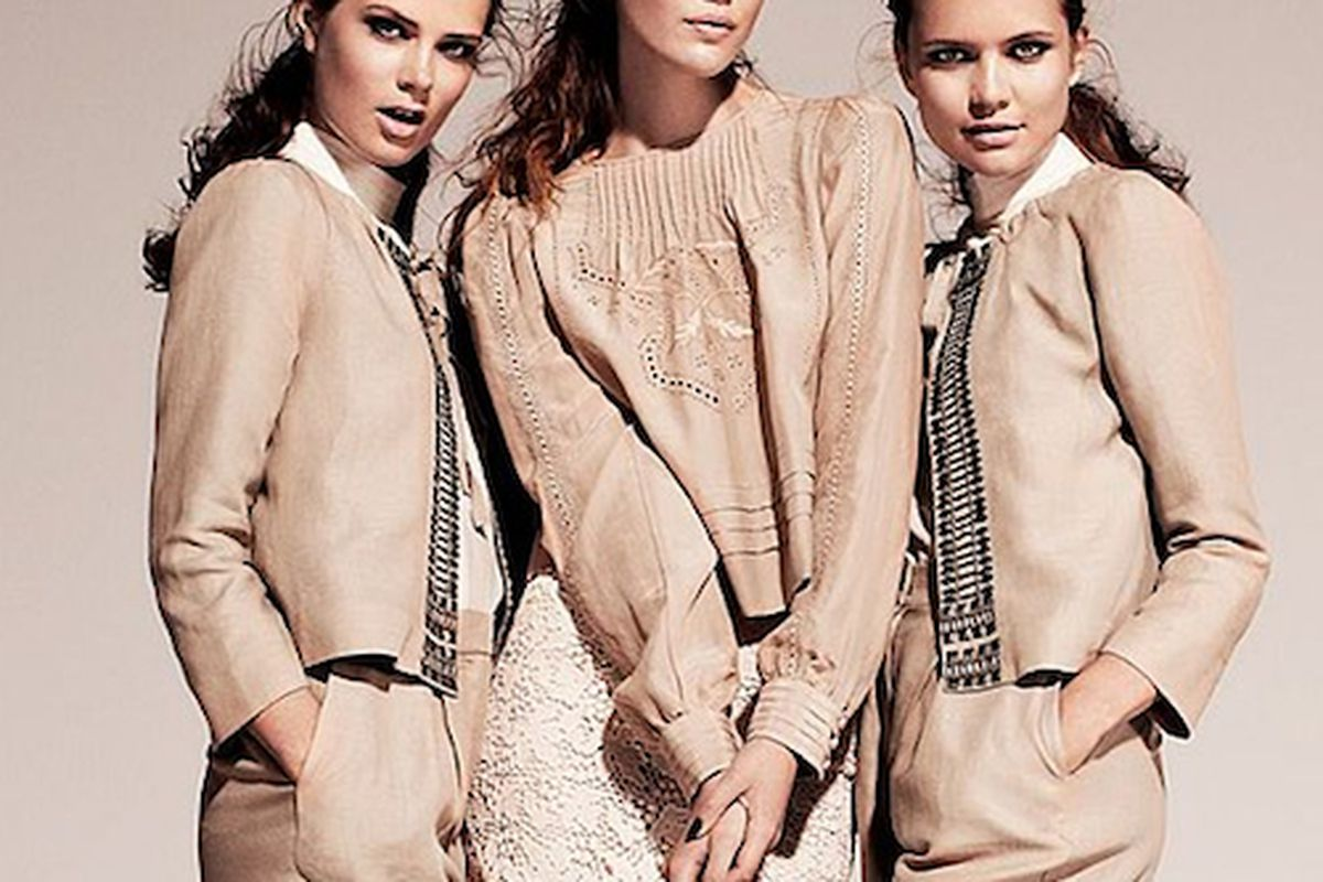 """I'll have the eco-friendly outfit, hold the granola.  Image via <a href=""""http://www.fashionologie.com/HM-Conscious-Collection-Fall-2011-Photos-19822836"""">Fashionologie</a>"""