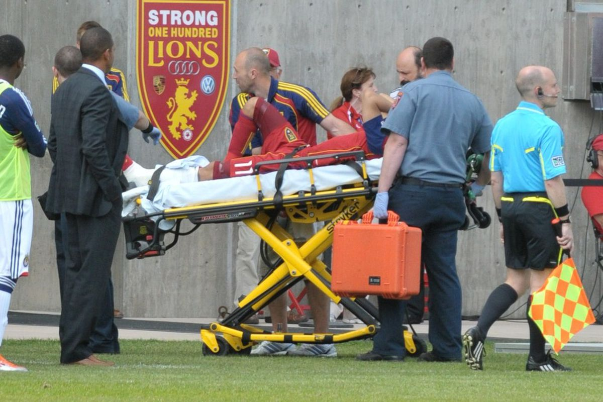 When RSL and Chivas meet in May, Javier Morales left on a stretcher.  As the teams face off again, he still hasn't returned to action.
