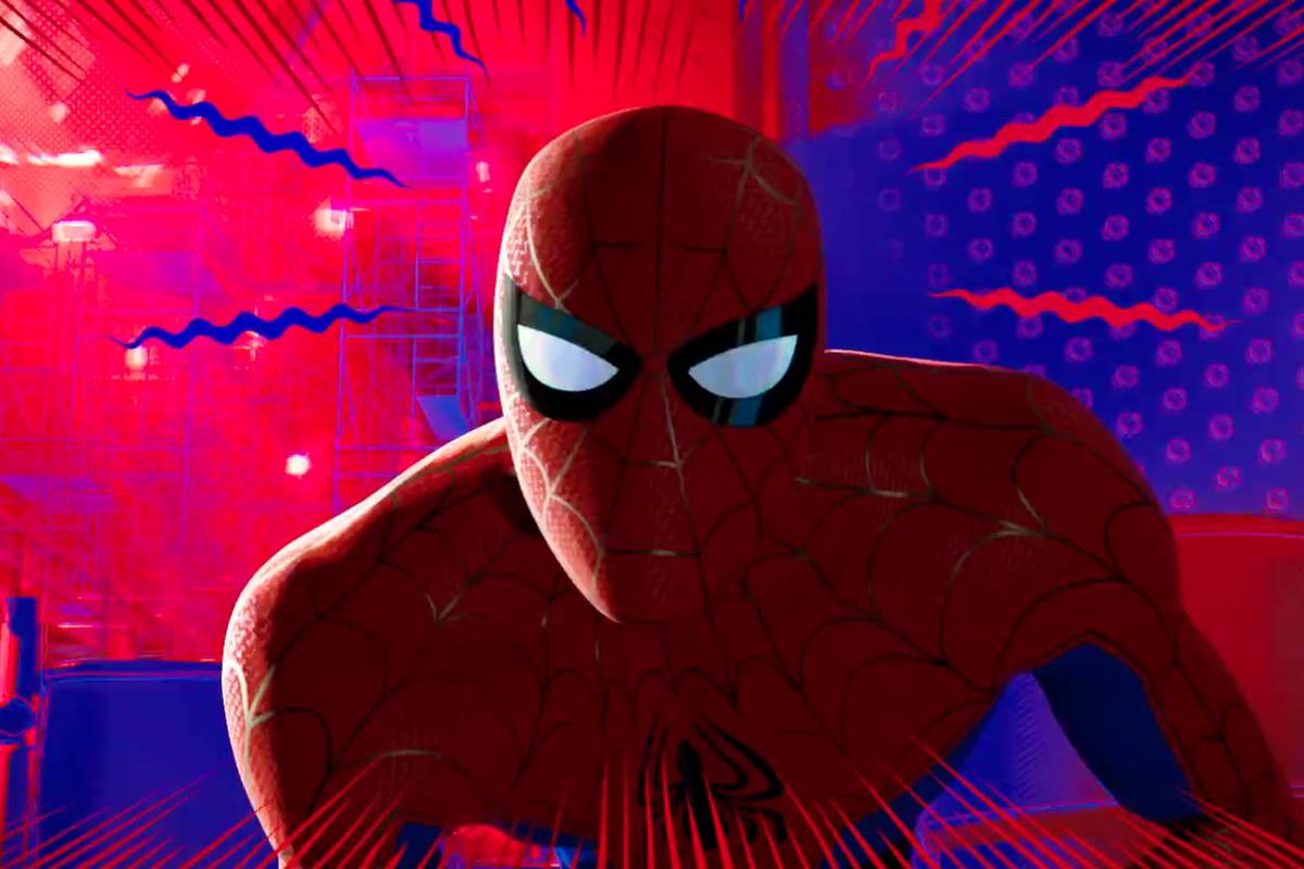 Spider-Man (Jake Johnson) in Spider-Man into the Spider-Verse