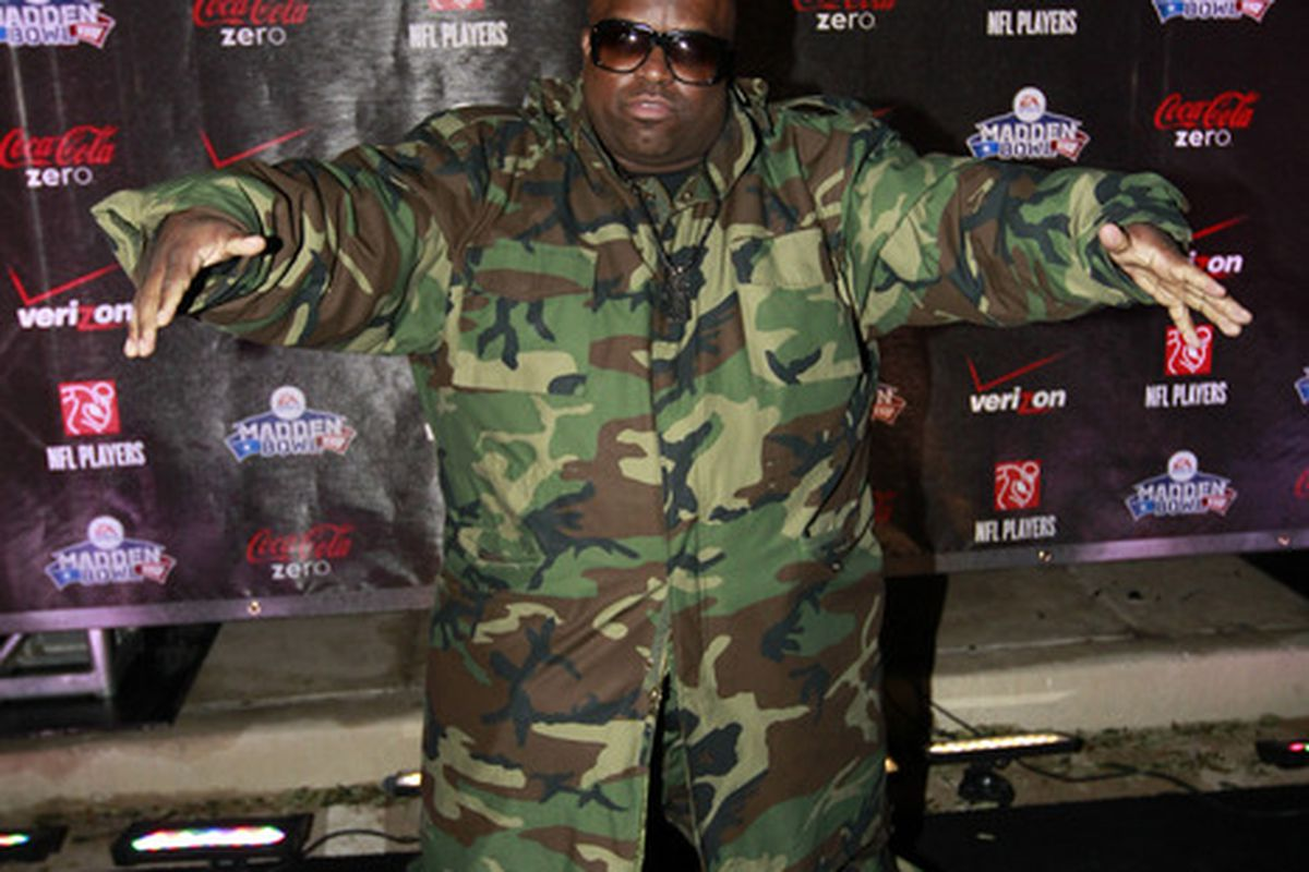 Musician Cee-Lo Green arrives at the Madden Bowl XVII in 2011.  (Photo by Tom Pennington/Getty Images for EA Sports)