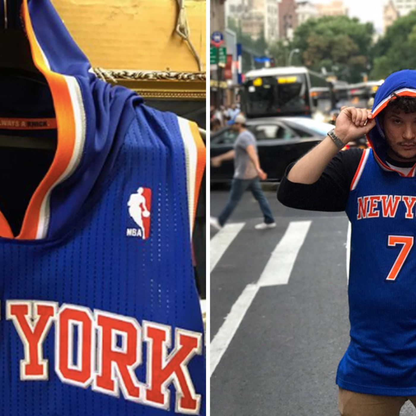 buy online 837d2 30d72 Hoodie Melo: How a lifelong Knicks fan made this jersey come ...