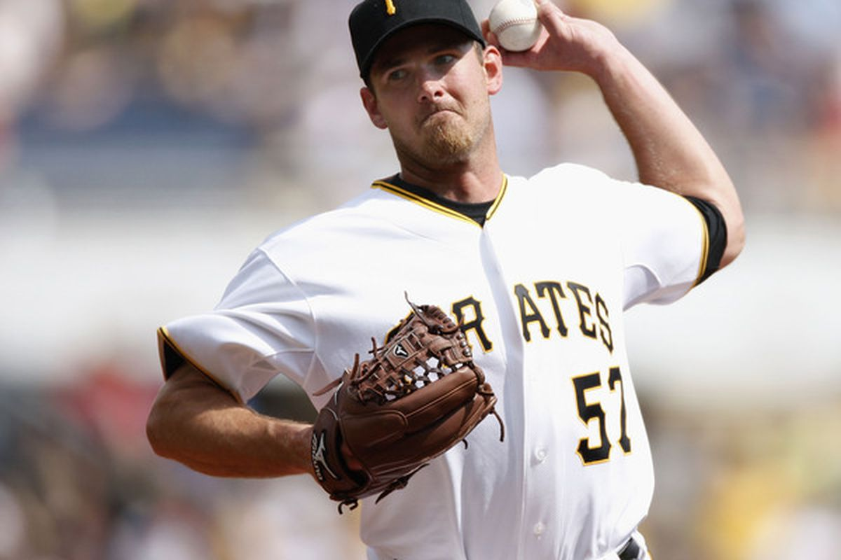 Zach Duke of the Pittsburgh Pirates  (Photo by Gregory Shamus/Getty Images)