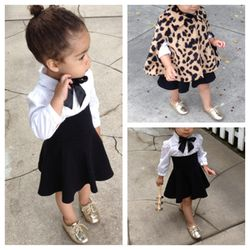 Old Navy blouse, American Apparel skirt, Baby Gap cape, Zara shoes, DIY ribbon bow tie by Monica Rose