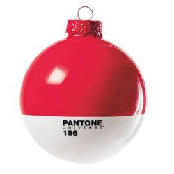 """Give your mom (who recently enrolled in graphic design continuing education courses) this <b>Pantone</b> Christmas Ornament in ruby, <a href=""""http://shop.cooperhewitt.org/p/3973/Pantone-Christmas-Ornament-Ruby"""">$15</a> at <b>The Cooper-Hewitt National Des"""