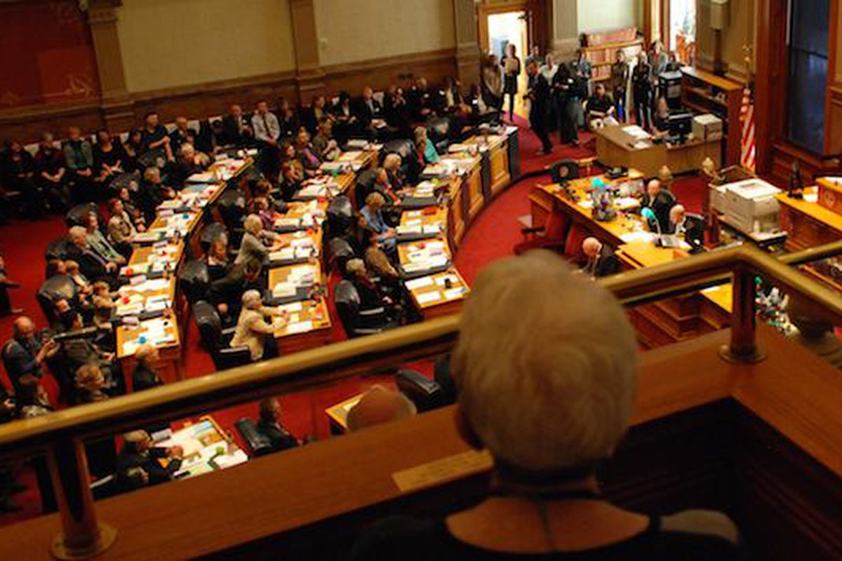 The Colorado Senate on 2014's opening day, Jan. 8.