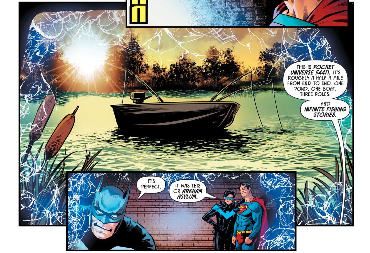 Batman, Nightwing and Superman in Batman: Prelude to the Wedding: Nightwing vs. Hush #1, DC Comics (2018).