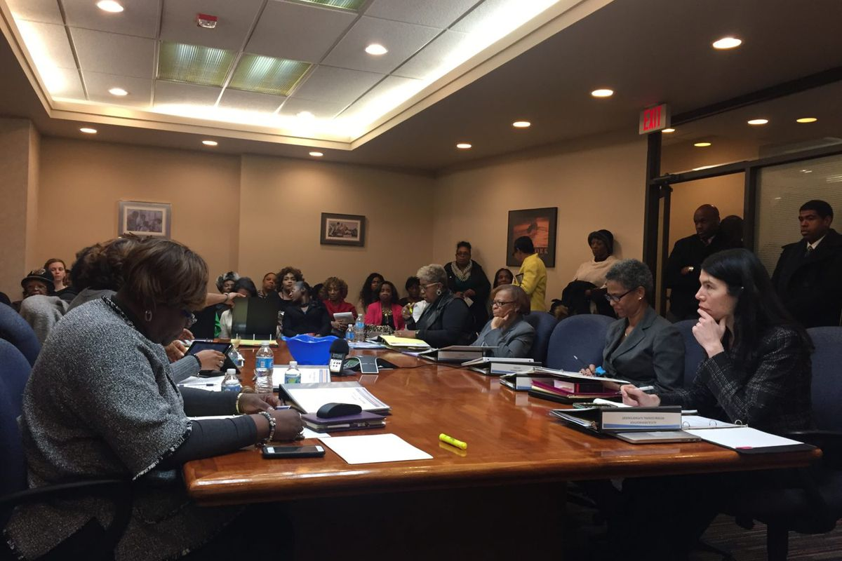 The newly elected Detroit school board voted unanimously in 2017 to fight school closures in court.