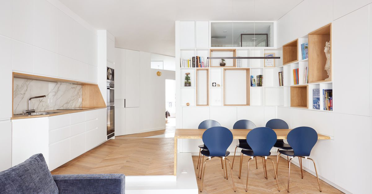 Bright Paris apartment maximizes space with built-ins
