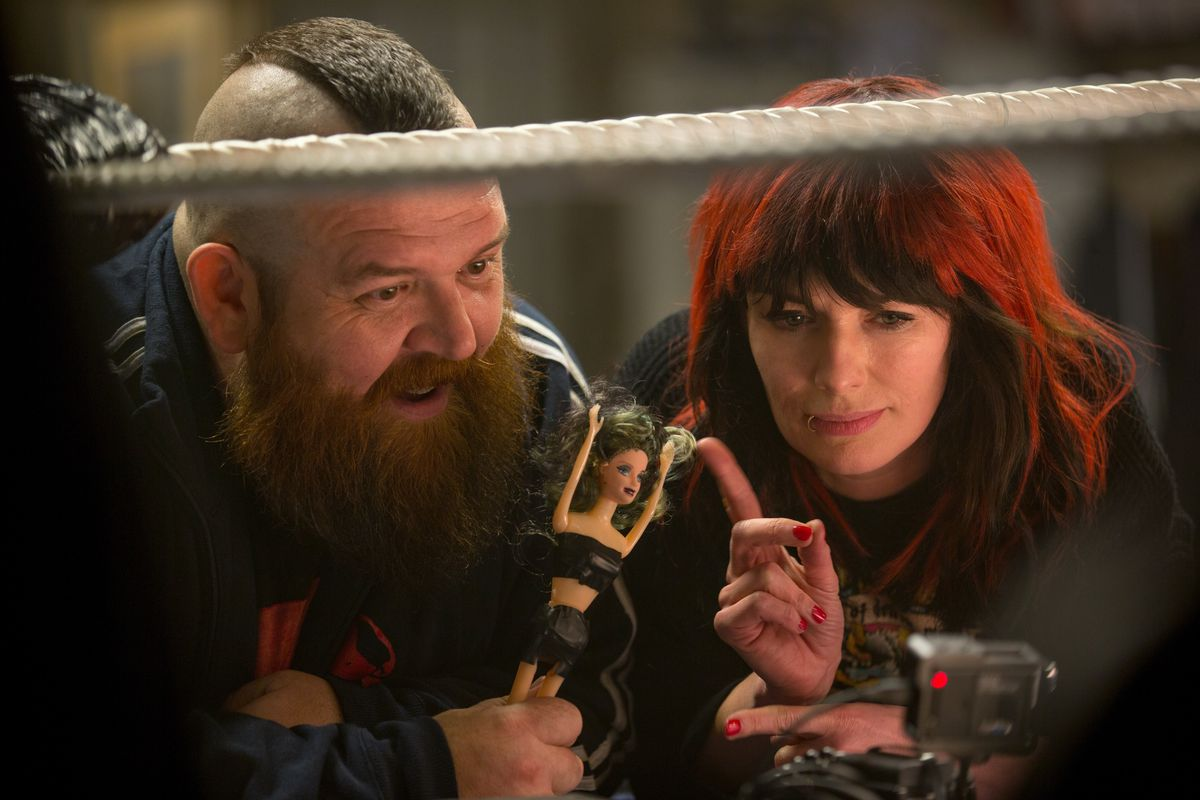 """Nick Frost and Lena Headey star as the girl's supportive parents in """"Fighting With My Family.""""   MGM"""