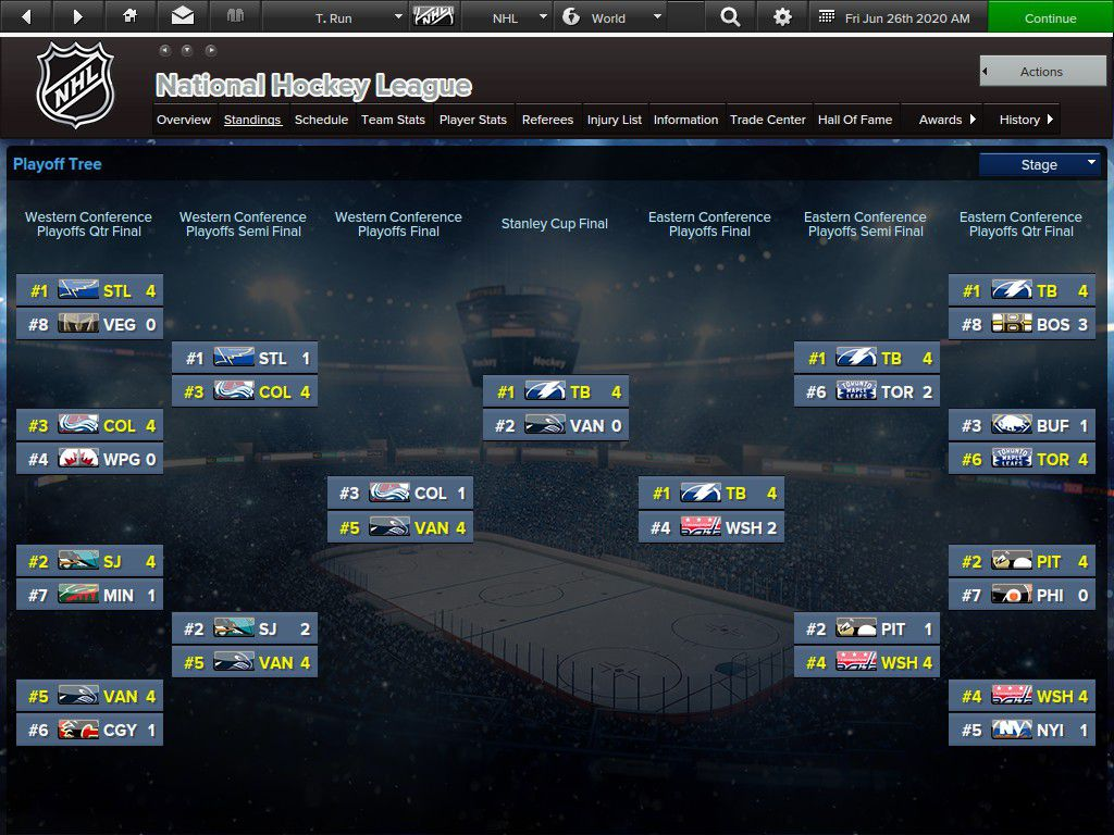 The EHM 2020 Stanley Cup Playoffs for Trial Run