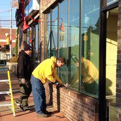 Dearborn Brewing window installation