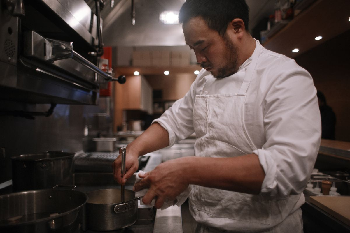 Dave Chang cooking