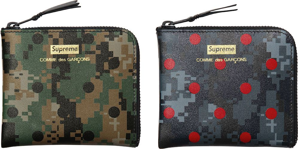 Wallets made by Supreme and Comme des Garcons