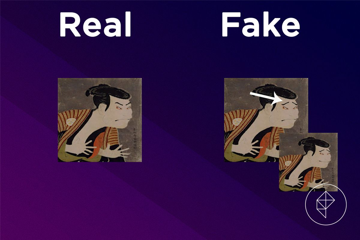 A comparison of the real and fake Scary Painting