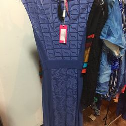 Embroidered midi dress, $50 (was $268)