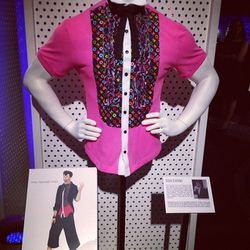 """Student Didda Scheving opted for a statement piece inspired by Phil """"Duckie"""" Dale in <i>Pretty in Pink</i> (1986)."""