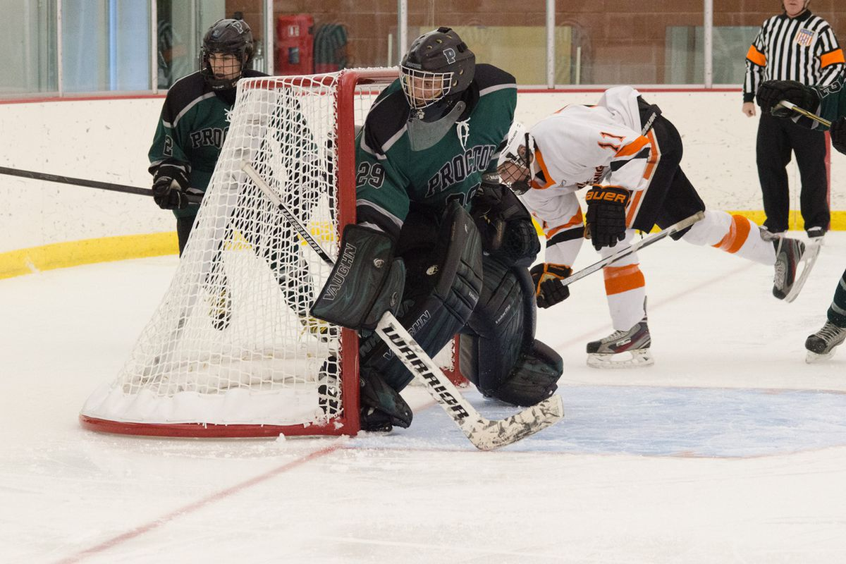 Former Proctor Academy goaltender Merrick Madsen is on the protected list for the Des Moines Buccaneers.