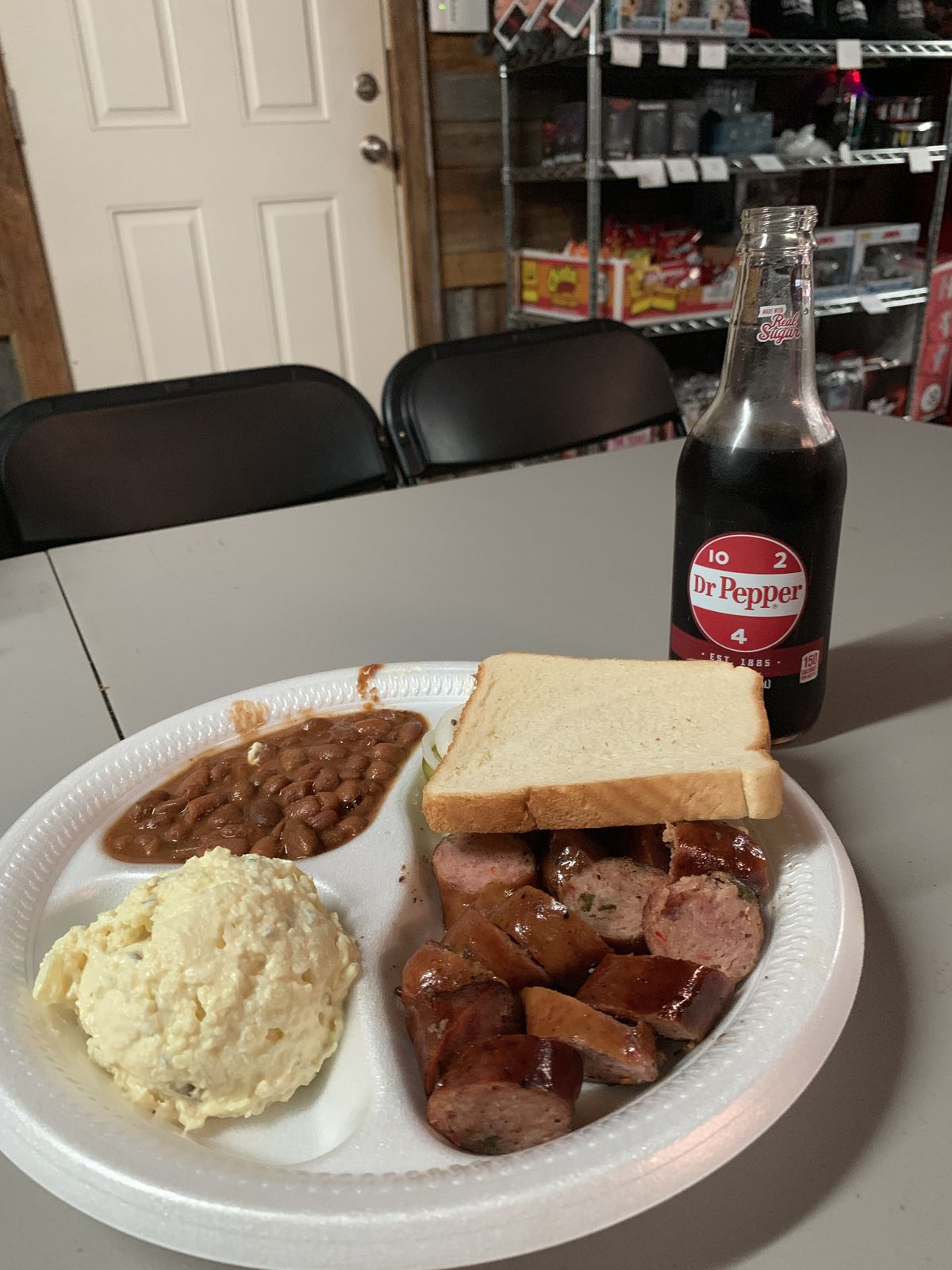 A barbecue plate from The Gas Station