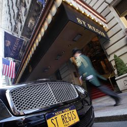 The Bentley of New York's St. Regis Hotel bears personalized license plates,  Wednesday, March 14, 2012. A century after the Titanic sank, the legacy of the ship's wealthiest and most famous passenger, John Jacob Astor, quietly lives on at the luxury hotel he built in New York City.