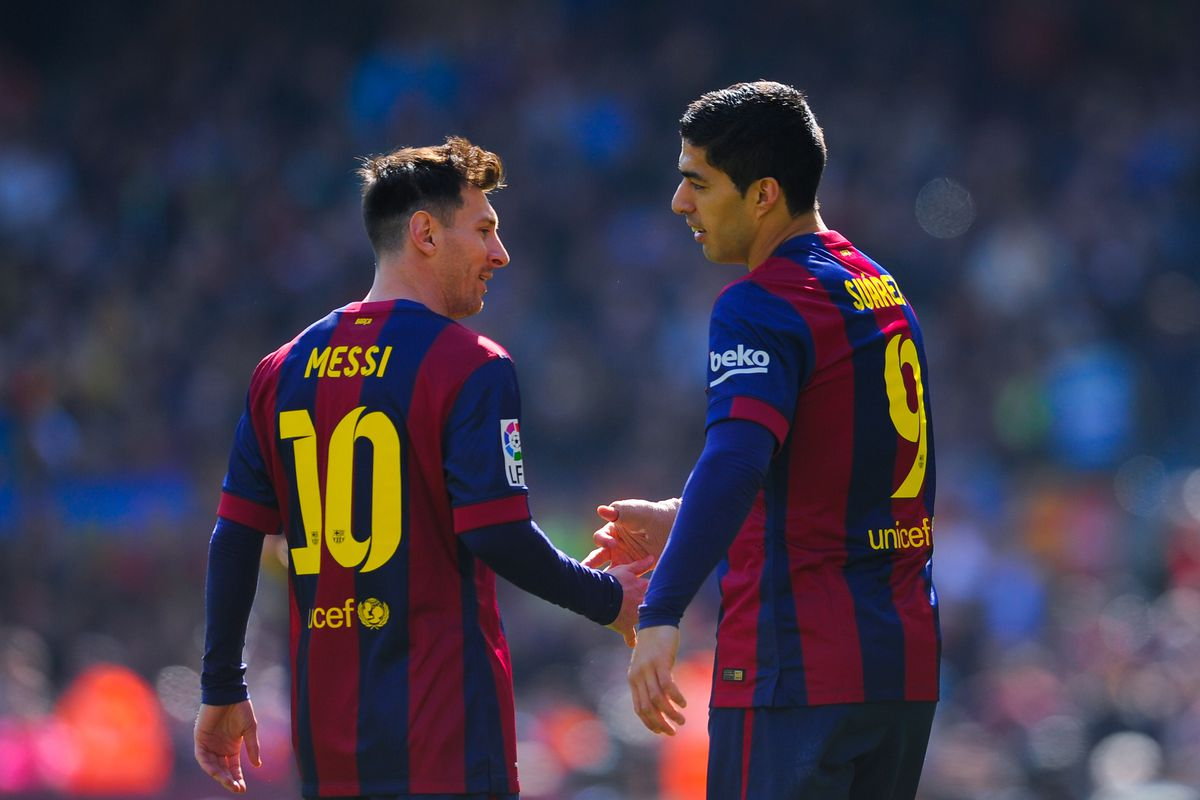Luis Suárez is helping Lionel Messi a lot... Not exactly on the pitch -  Barca Blaugranes