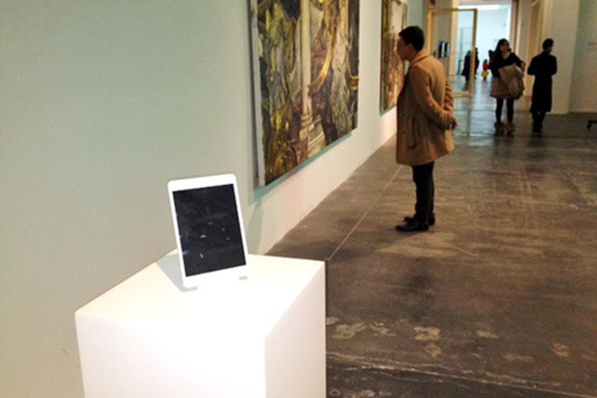 iPad at Chinese art museum (C) New Yorker