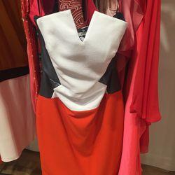 Zoe Jordan spring 2014 dress with leather panels, $100