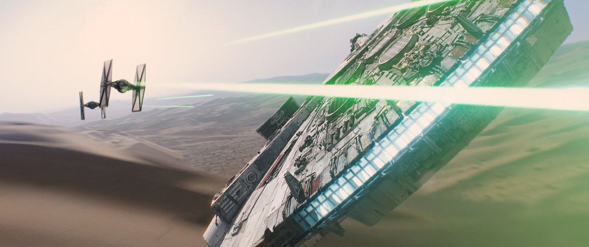 The Millennium Falcon in the new Star Wars.