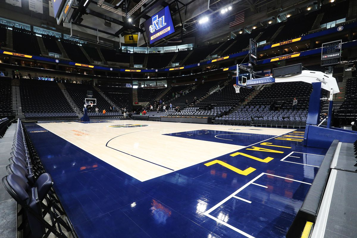 The Miller family lets the public take self-guided tours of the renovated Vivint Smart Home Arena in Salt Lake City on Tuesday, Sept. 26, 2017.