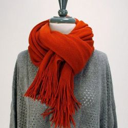 """This candy apple big softie scarf by Joy, $<a href=""""http://www.candystorecollective.com/collections/30-sale/products/red-big-softie-scarf"""">30</a>, was $39"""