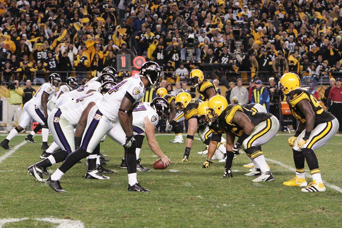 Ravens vs. Steelers (photo credits: Charles LeClair-US PRESSWIRE)