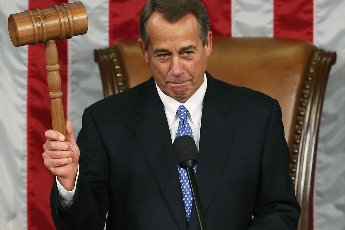 He had the gavel, and they didn't.